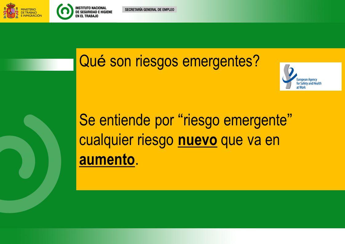 Qué son riesgos emergentes