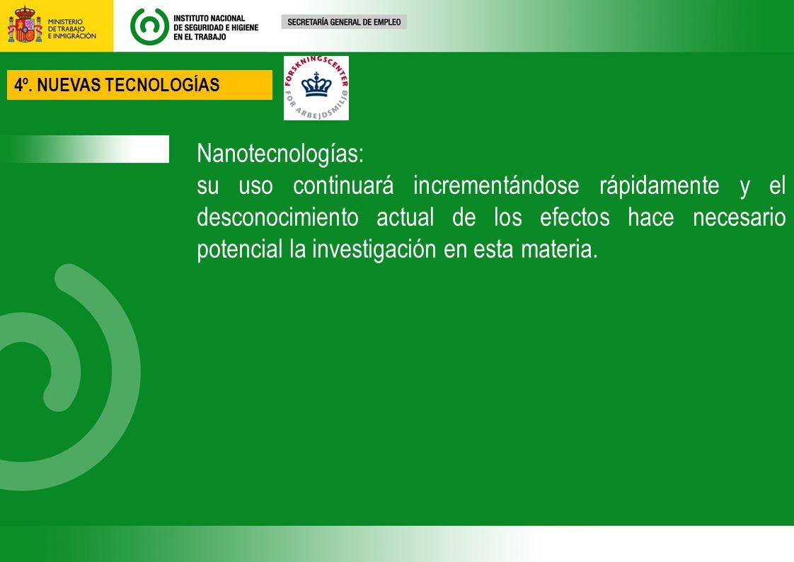 4º. NUEVAS TECNOLOGÍAS Nanotecnologías: