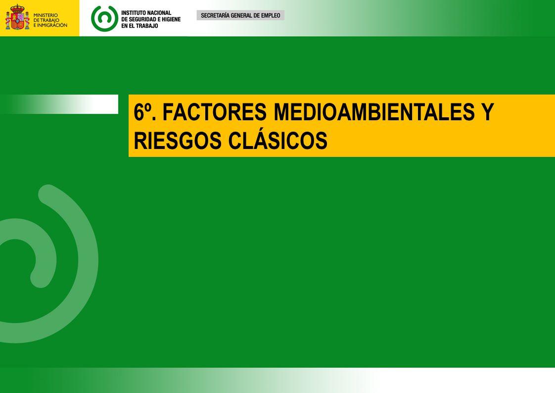 6º. FACTORES MEDIOAMBIENTALES Y RIESGOS CLÁSICOS