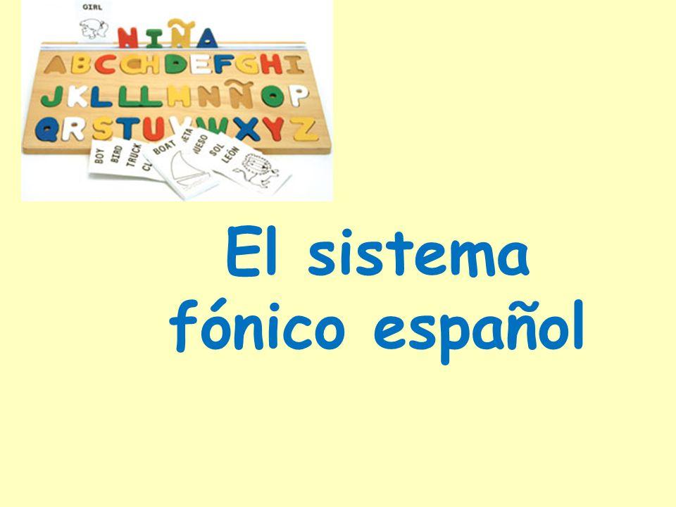 El sistema fónico español