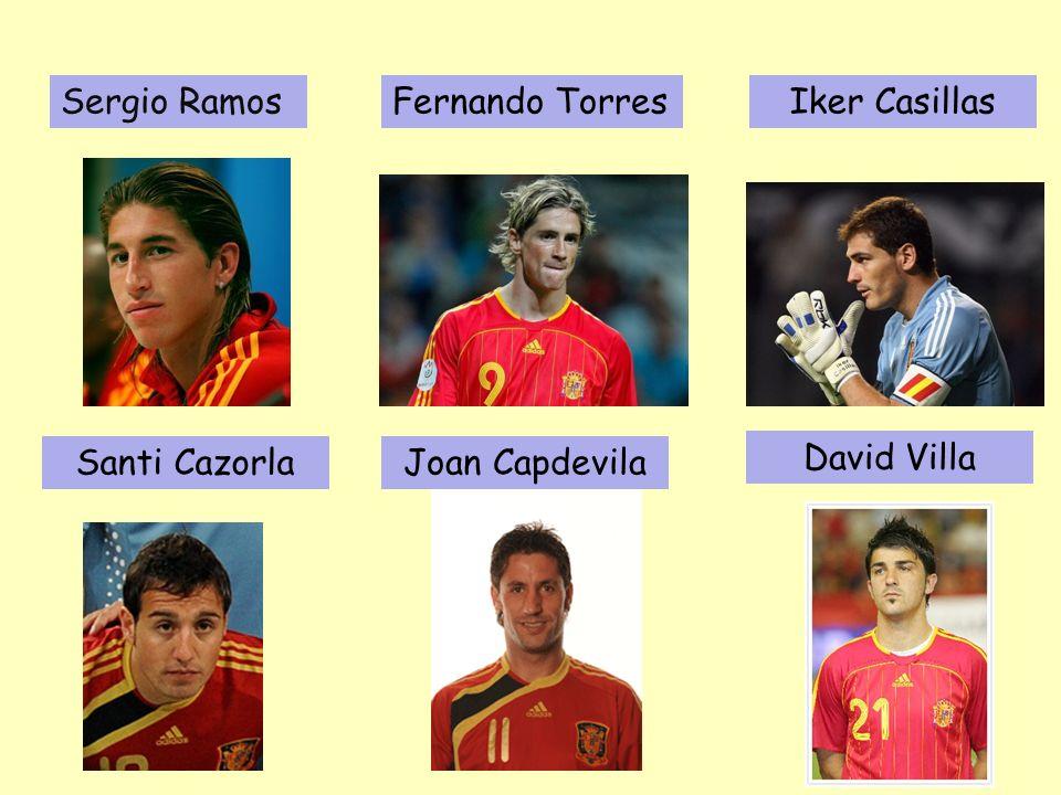 Sergio Ramos Fernando Torres Iker Casillas Santi Cazorla Joan Capdevila David Villa