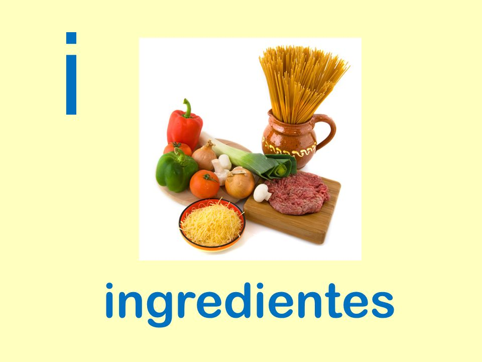 i ingredientes