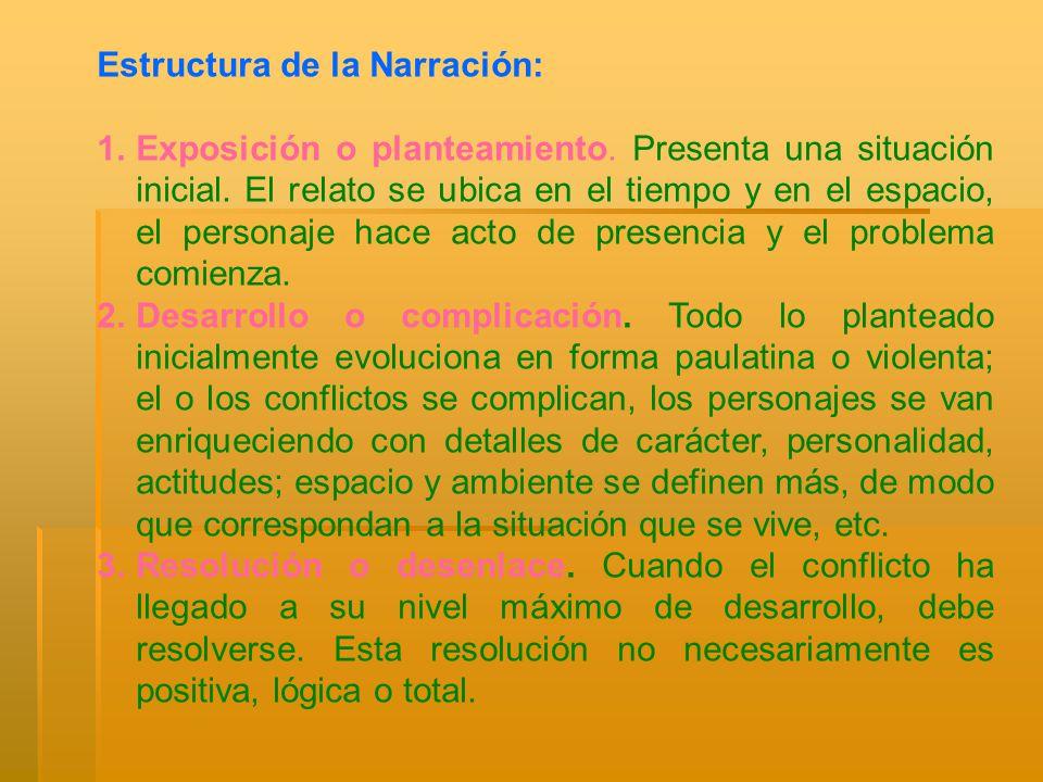 Estructura de la Narración: