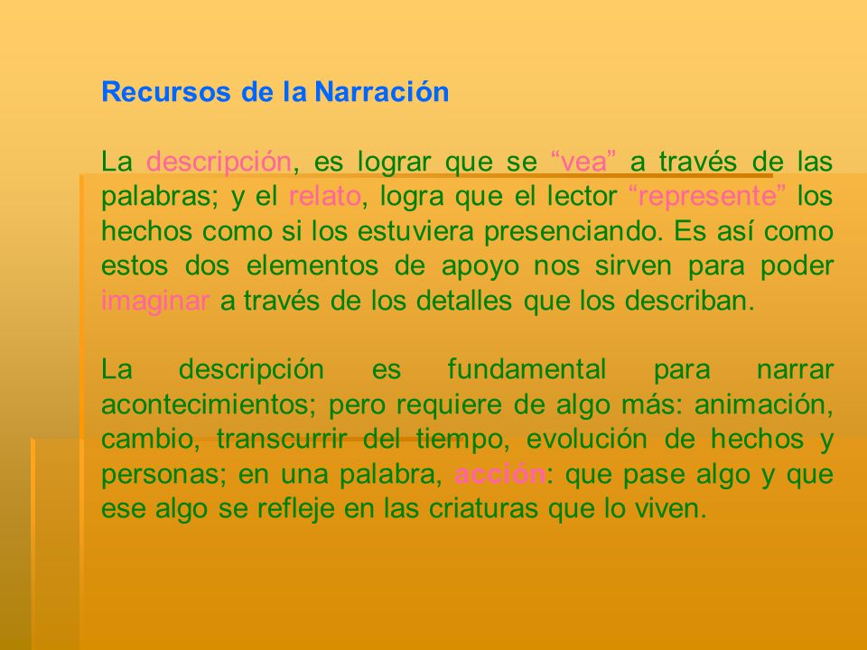 Recursos de la Narración
