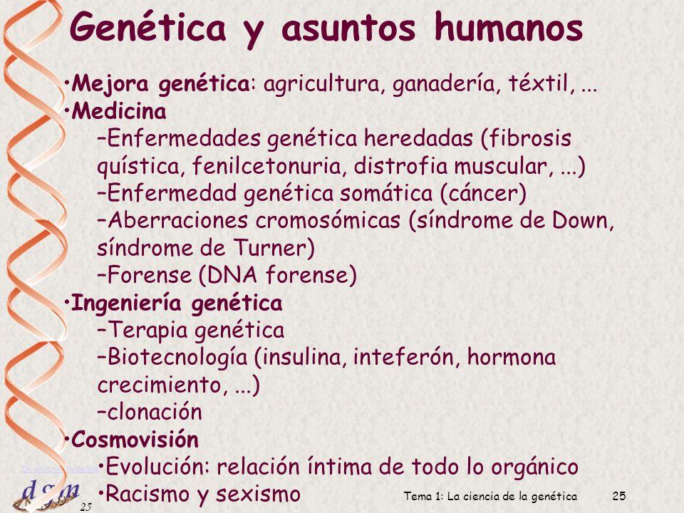 Genética y asuntos humanos