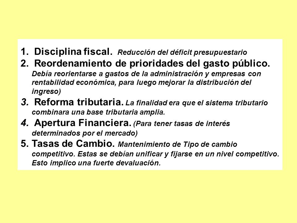 1. Disciplina fiscal. Reducción del déficit presupuestario