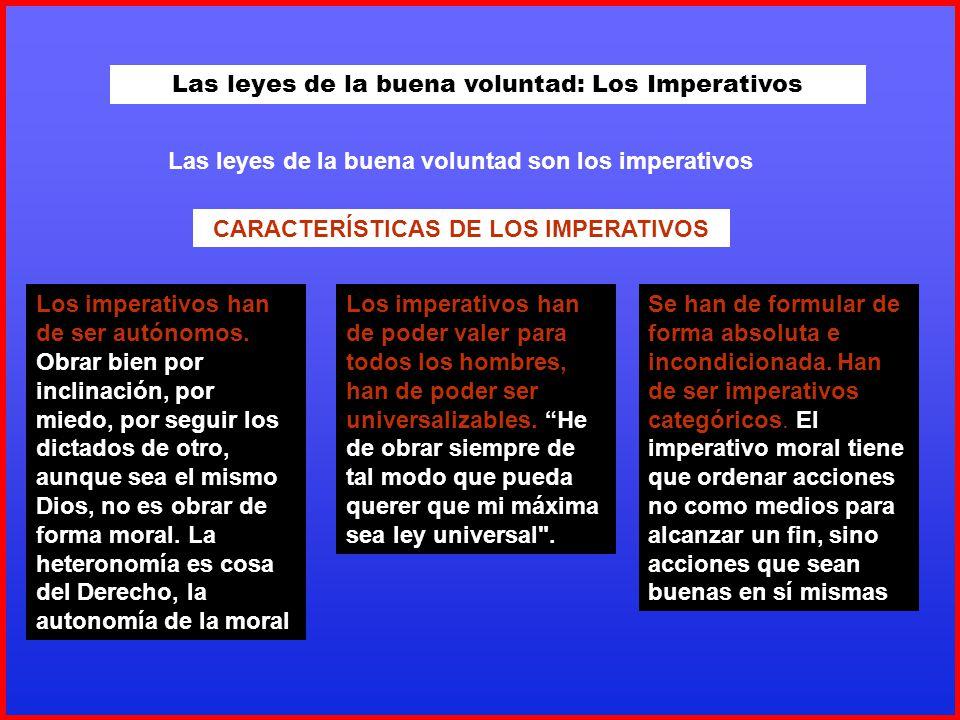Las leyes de la buena voluntad: Los Imperativos