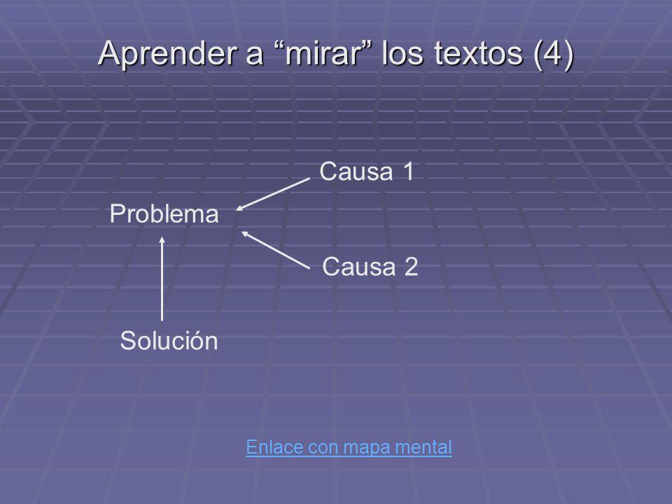 Aprender a mirar los textos (4)