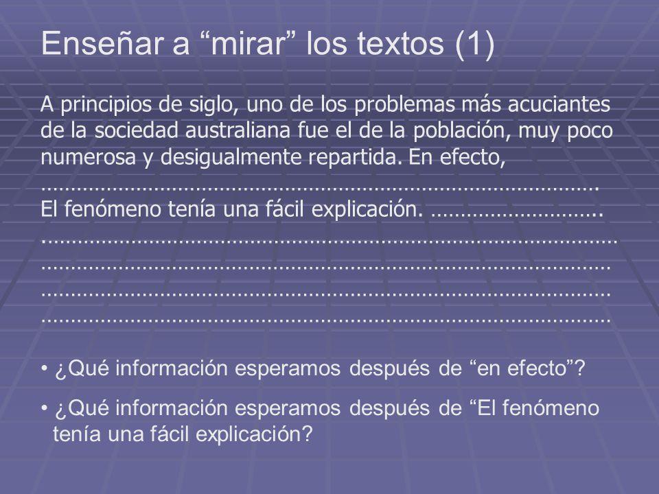 Enseñar a mirar los textos (1)