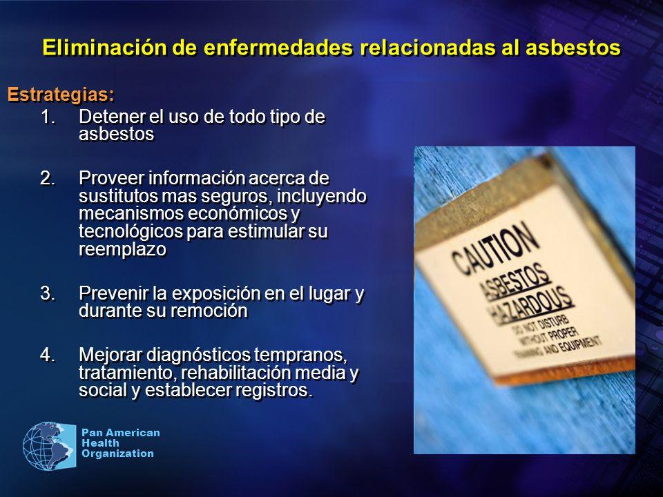 Eliminación de enfermedades relacionadas al asbestos