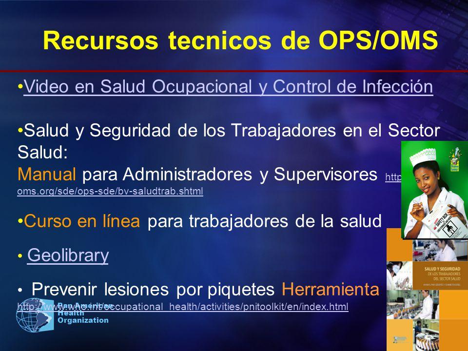 Recursos tecnicos de OPS/OMS