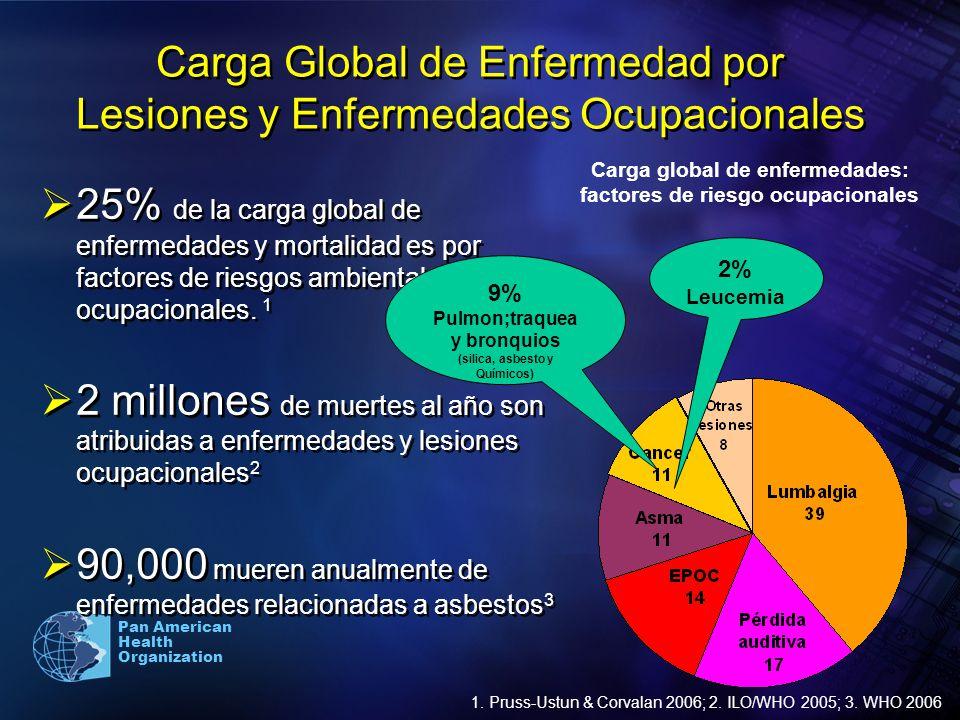 Carga Global de Enfermedad por Lesiones y Enfermedades Ocupacionales