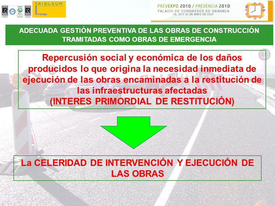 (INTERES PRIMORDIAL DE RESTITUCIÓN)