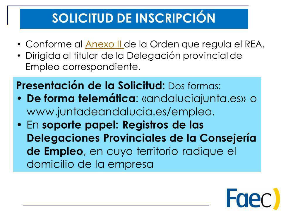 SOLICITUD DE INSCRIPCIÓN