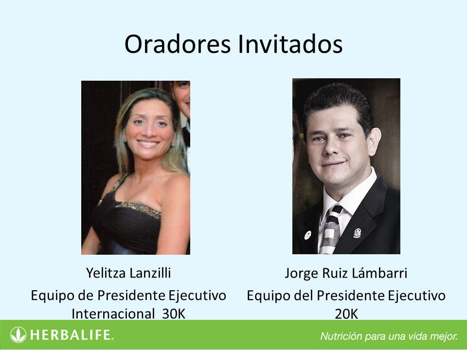 Oradores Invitados Yelitza Lanzilli Equipo de Presidente Ejecutivo Internacional 30K Jorge Ruiz Lámbarri.