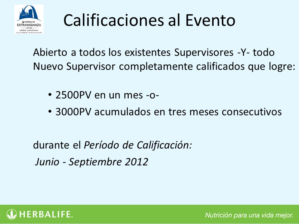 Calificaciones al Evento