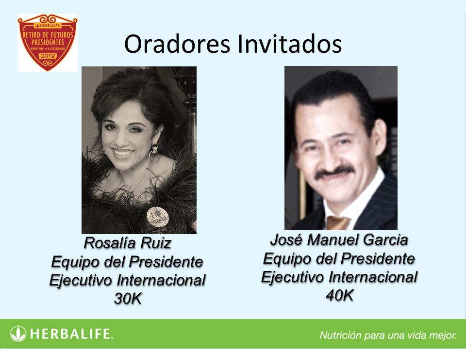 Oradores Invitados José Manuel Garcia Rosalía Ruiz