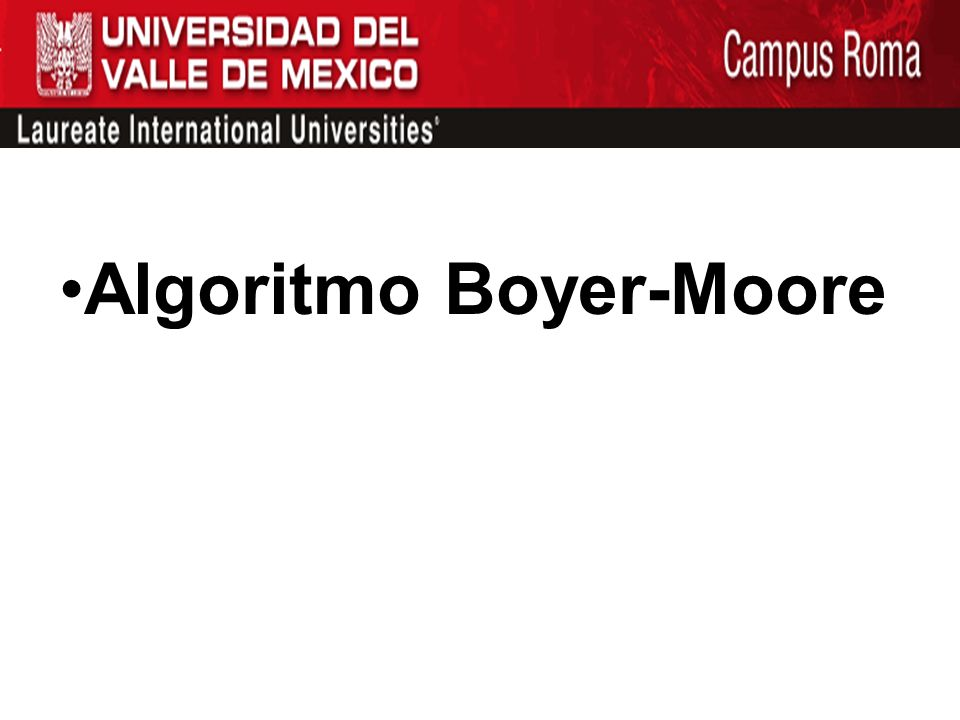 Algoritmo Boyer-Moore
