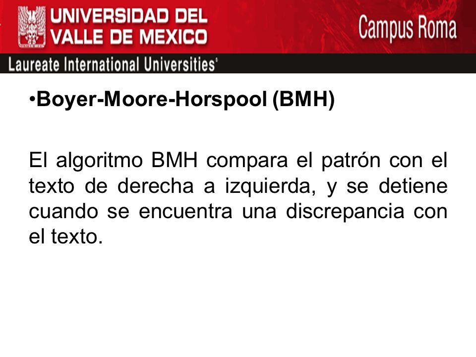 Boyer-Moore-Horspool (BMH)