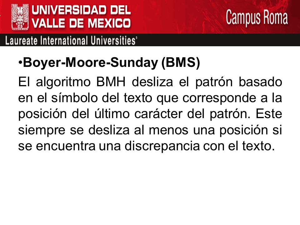 Boyer-Moore-Sunday (BMS)