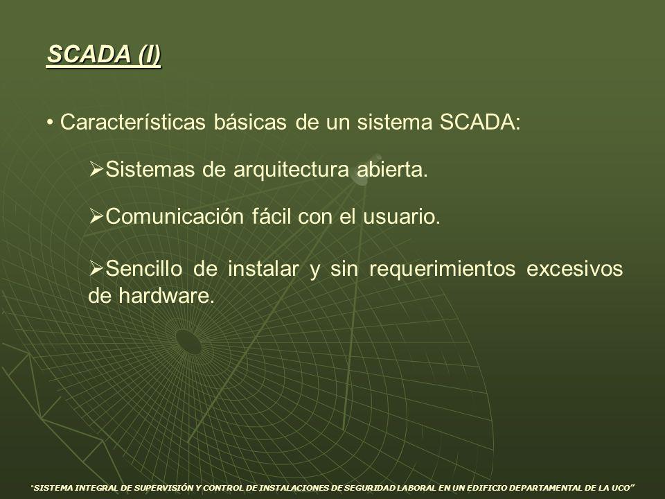 SCADA (I) Características básicas de un sistema SCADA:
