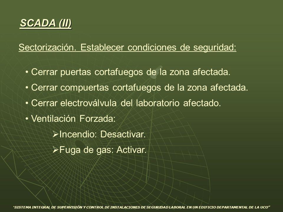 SCADA (II) Sectorización. Establecer condiciones de seguridad: