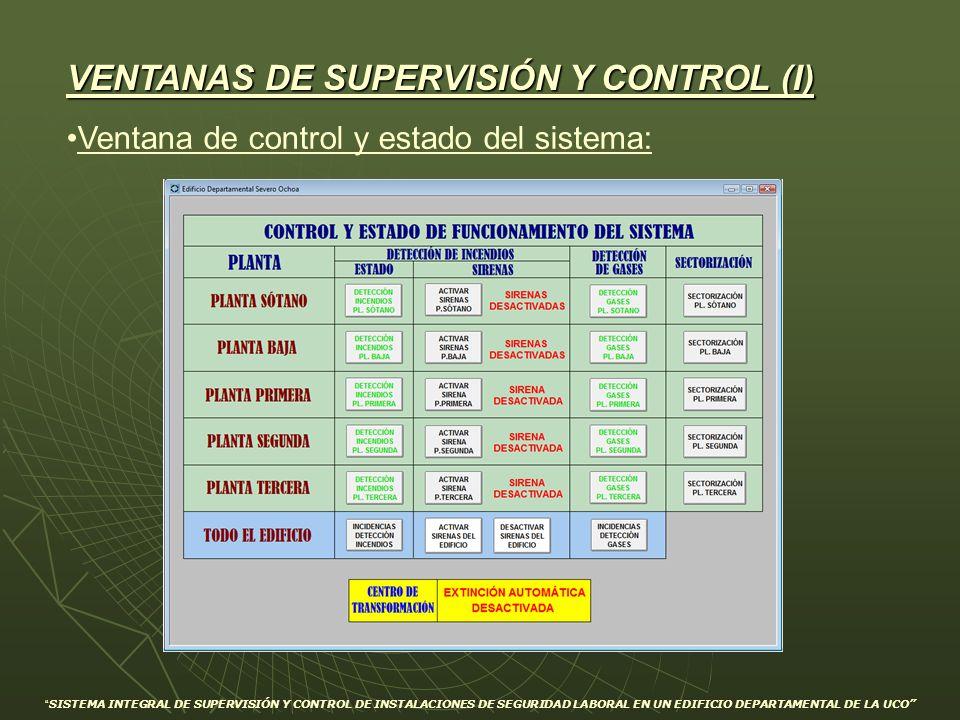 VENTANAS DE SUPERVISIÓN Y CONTROL (I)