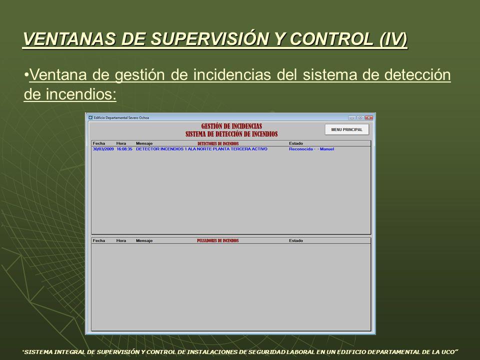 VENTANAS DE SUPERVISIÓN Y CONTROL (IV)