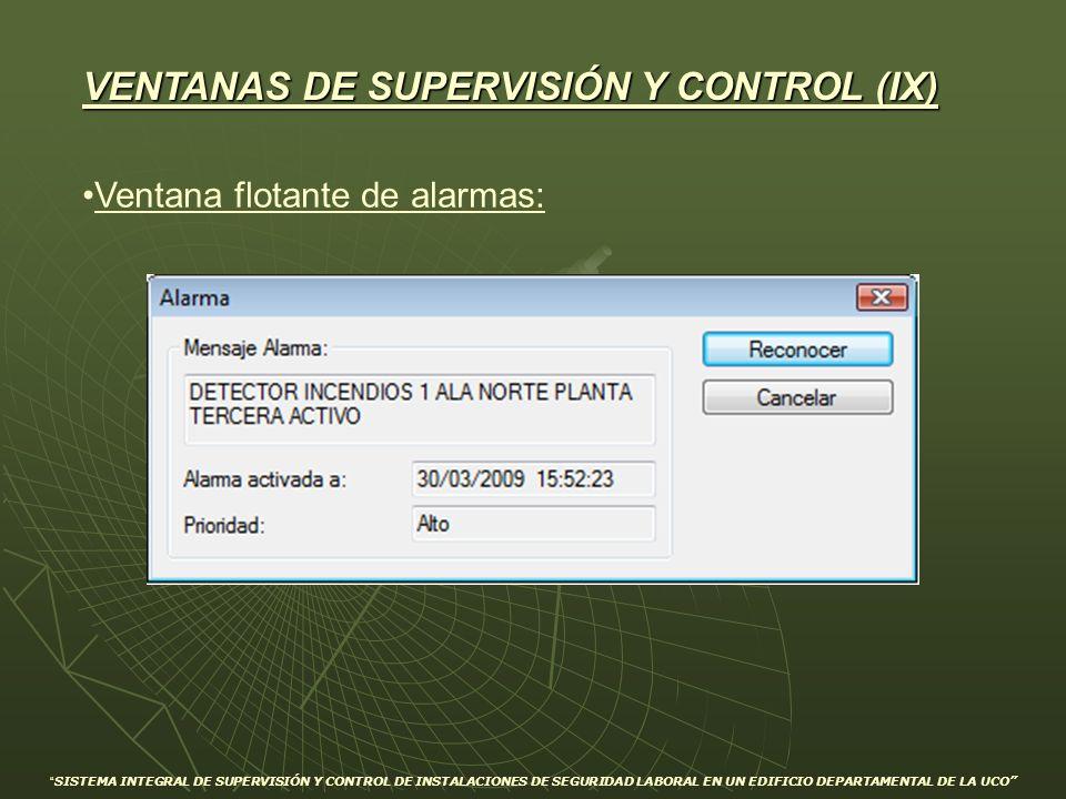 VENTANAS DE SUPERVISIÓN Y CONTROL (IX)