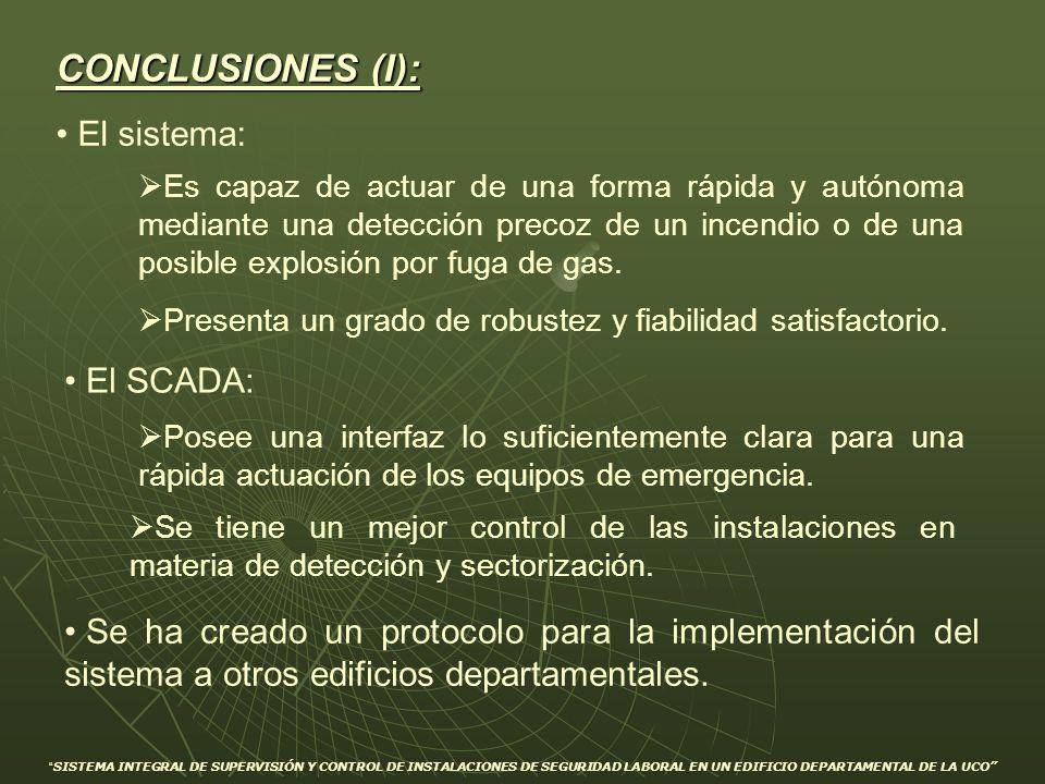 CONCLUSIONES (I): El sistema: El SCADA: