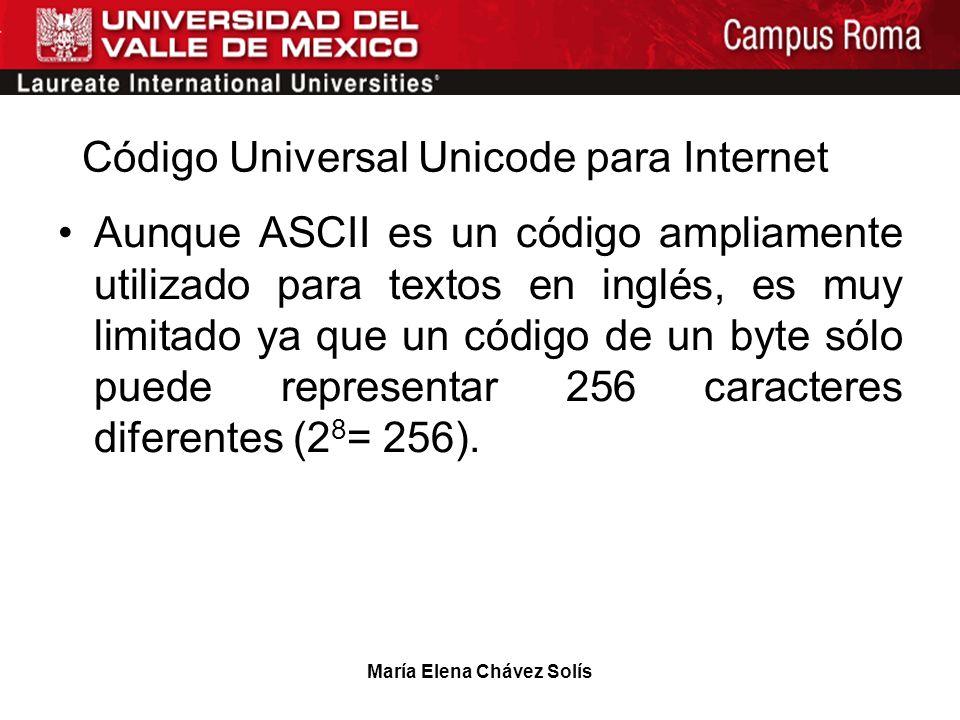 Código Universal Unicode para Internet