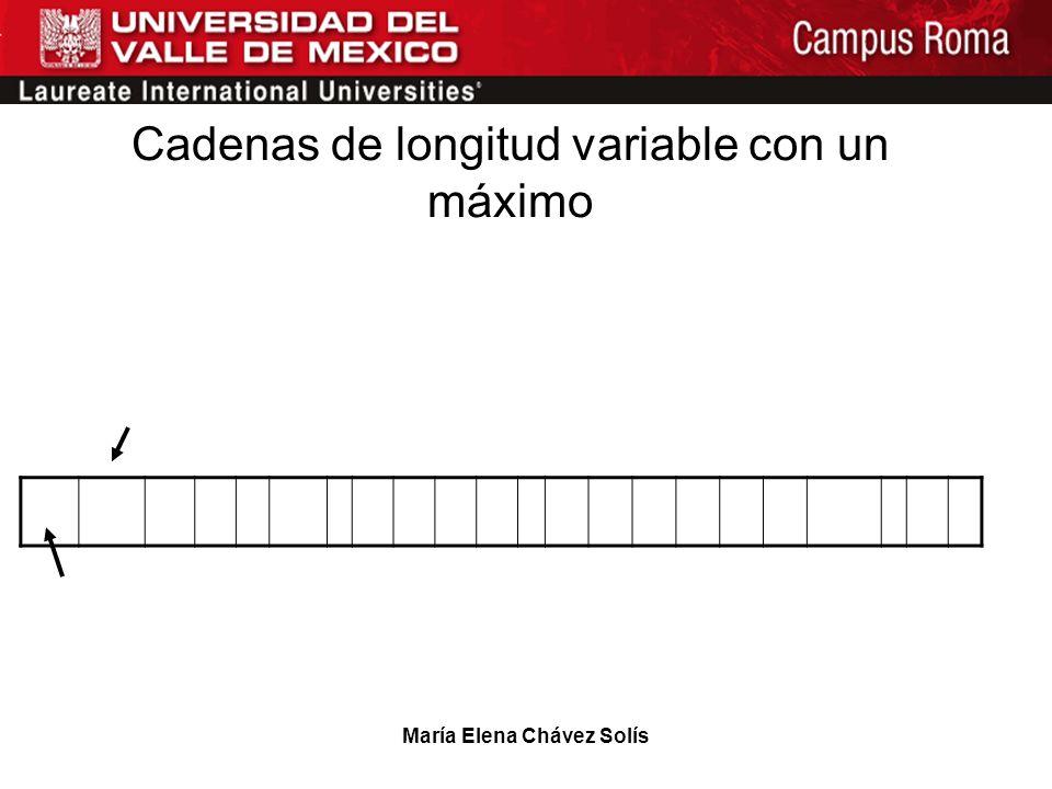 Cadenas de longitud variable con un máximo