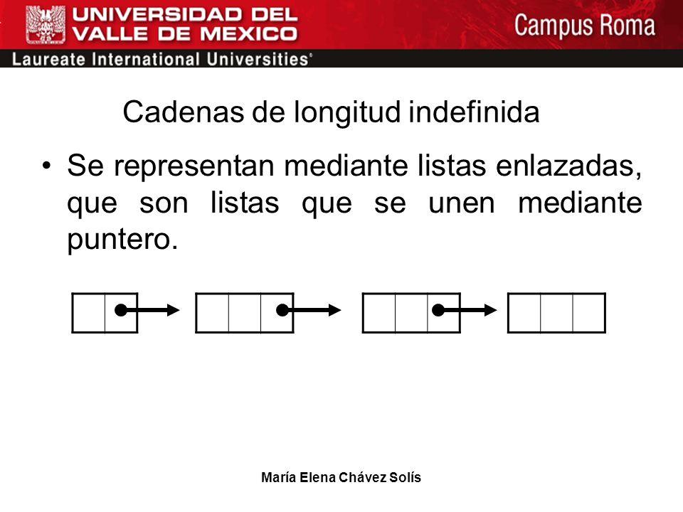 Cadenas de longitud indefinida