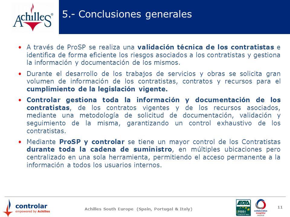 5.- Conclusiones generales