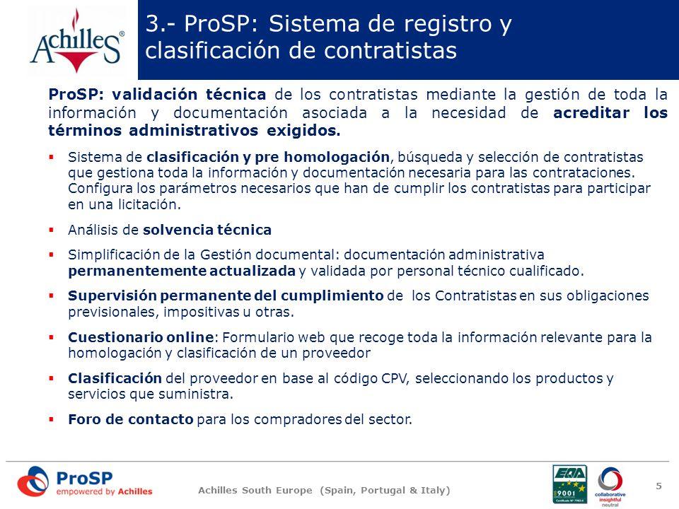3.- ProSP: Sistema de registro y clasificación de contratistas