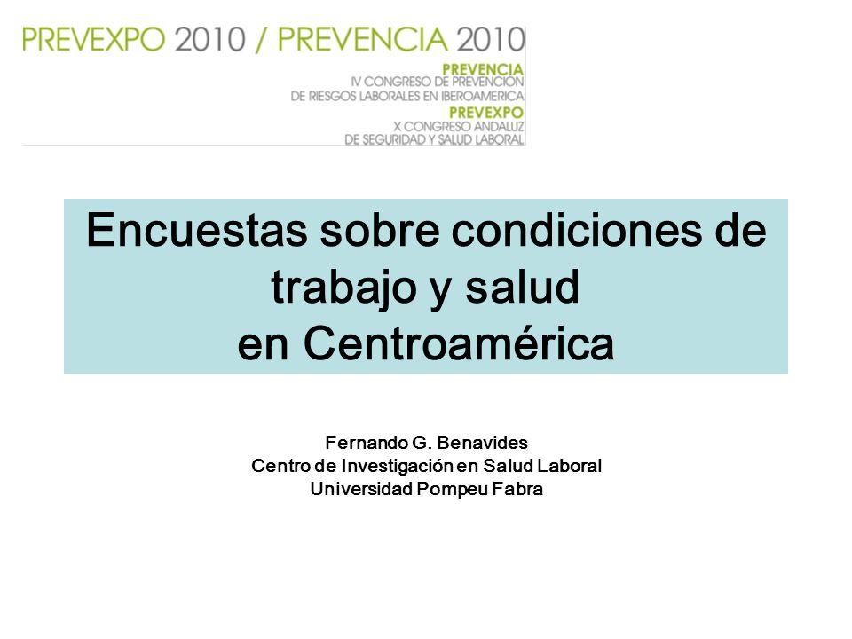 Encuestas sobre condiciones de trabajo y salud en Centroamérica