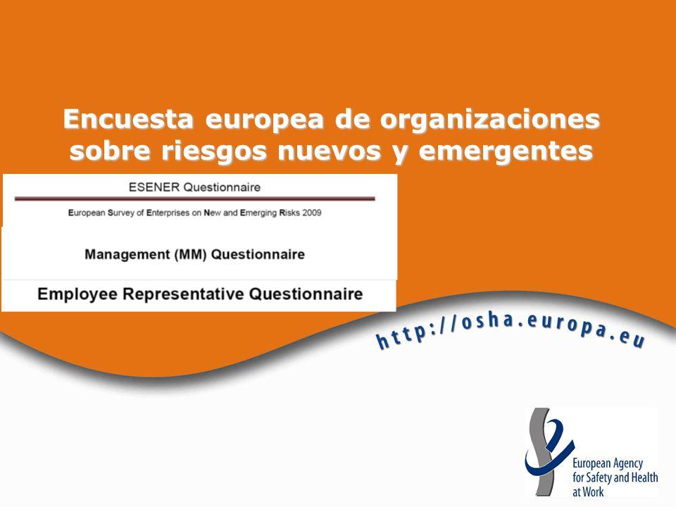 Encuesta europea de organizaciones sobre riesgos nuevos y emergentes
