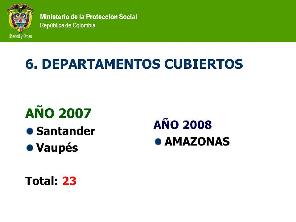 6. DEPARTAMENTOS CUBIERTOS
