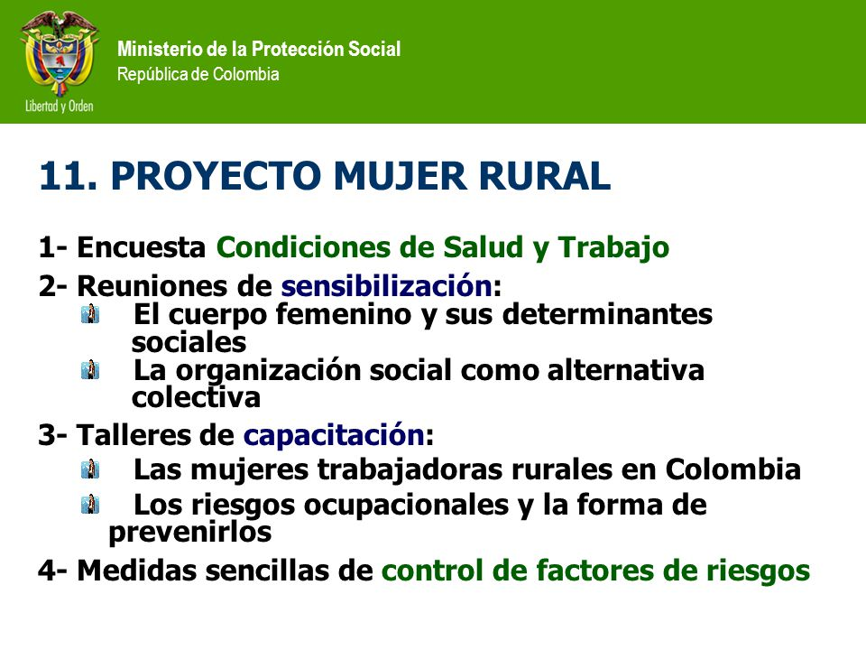 11. PROYECTO MUJER RURAL 1- Encuesta Condiciones de Salud y Trabajo