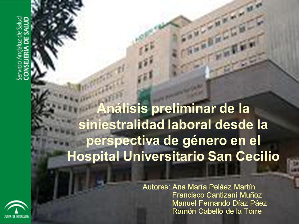 Análisis preliminar de la siniestralidad laboral desde la perspectiva de género en el Hospital Universitario San Cecilio
