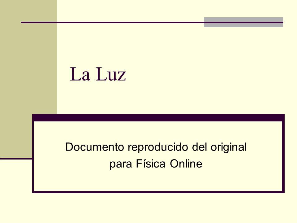 Documento reproducido del original para Física Online