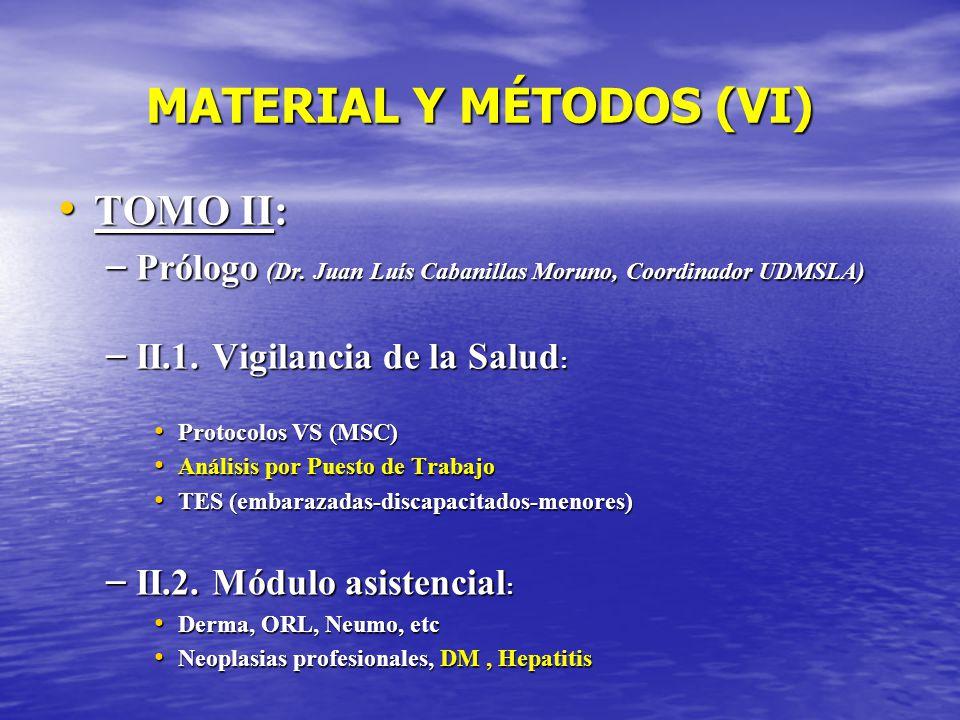 MATERIAL Y MÉTODOS (VI)