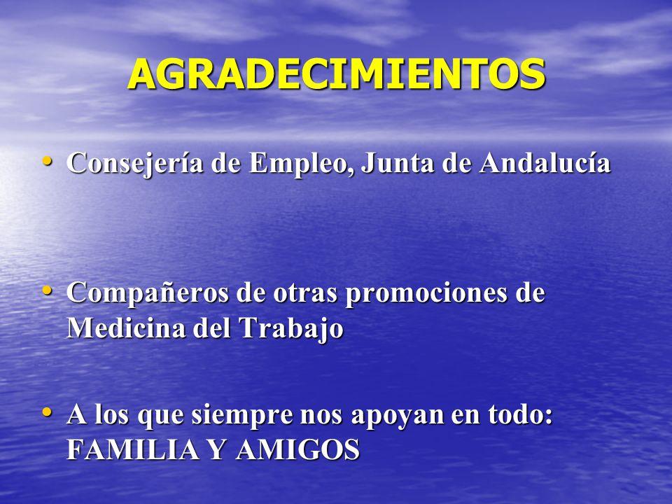 AGRADECIMIENTOS Consejería de Empleo, Junta de Andalucía