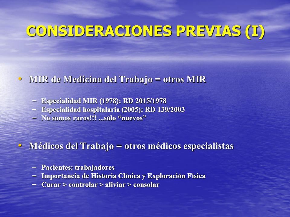 CONSIDERACIONES PREVIAS (I)