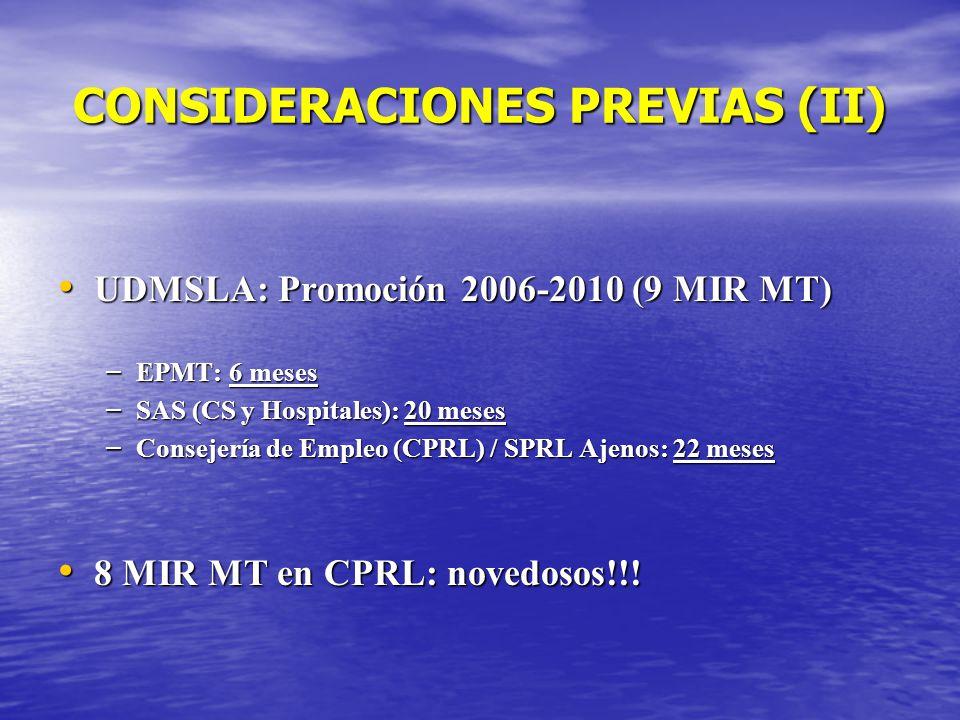 CONSIDERACIONES PREVIAS (II)