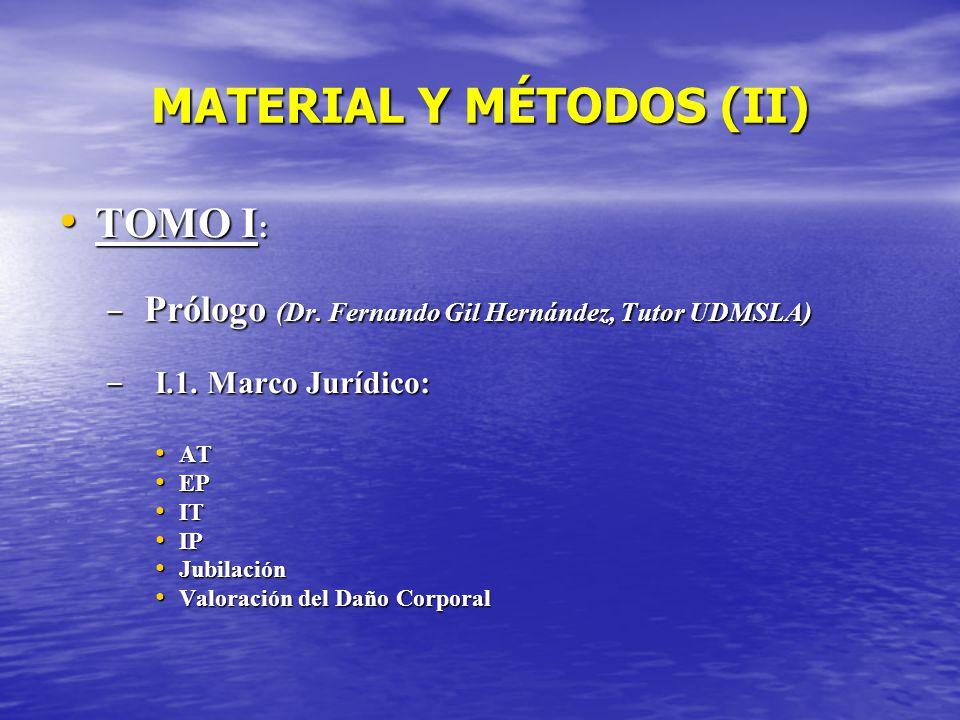 MATERIAL Y MÉTODOS (II)