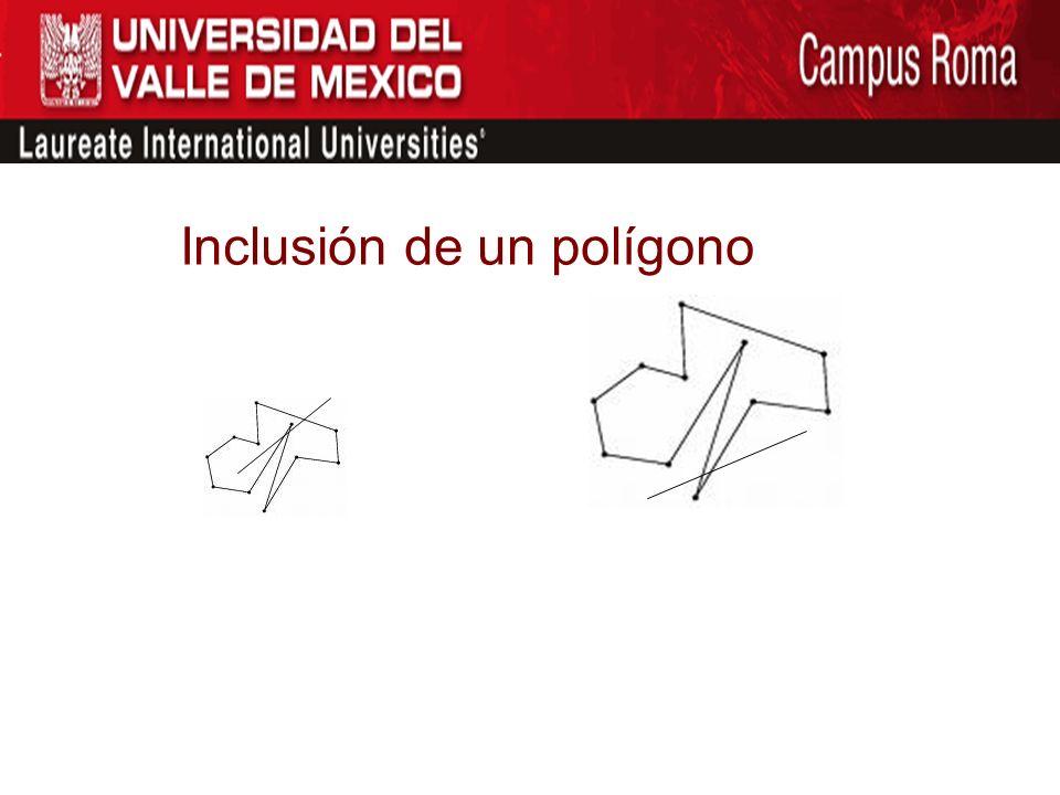 Inclusión de un polígono