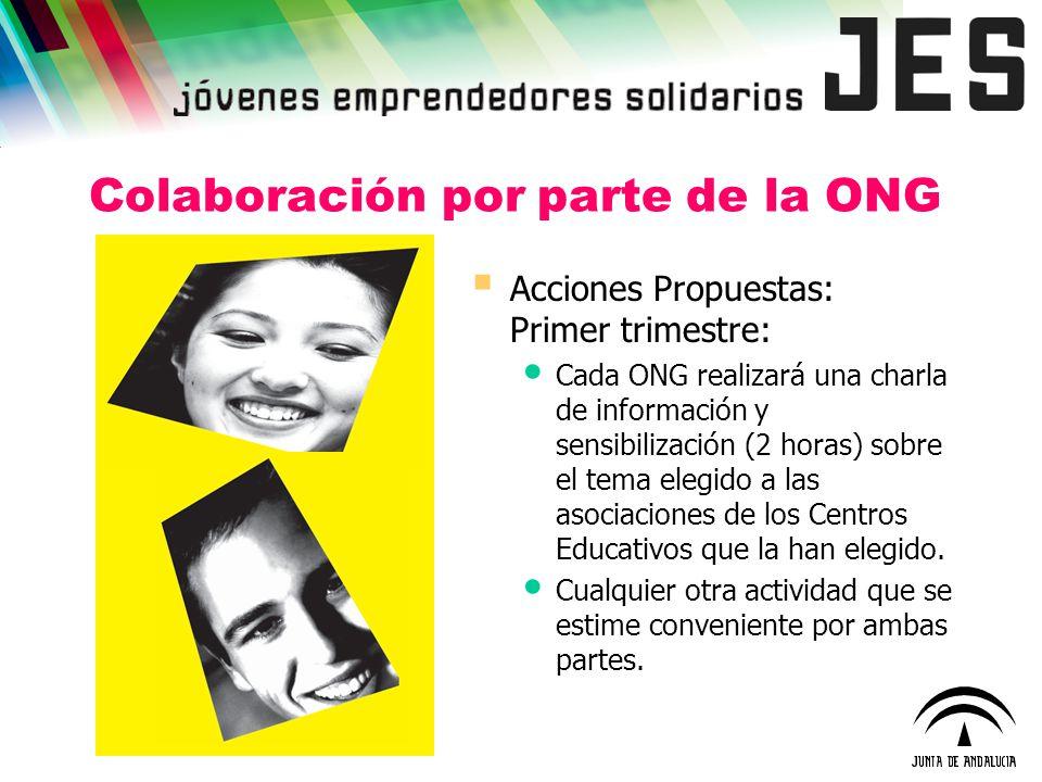 Colaboración por parte de la ONG