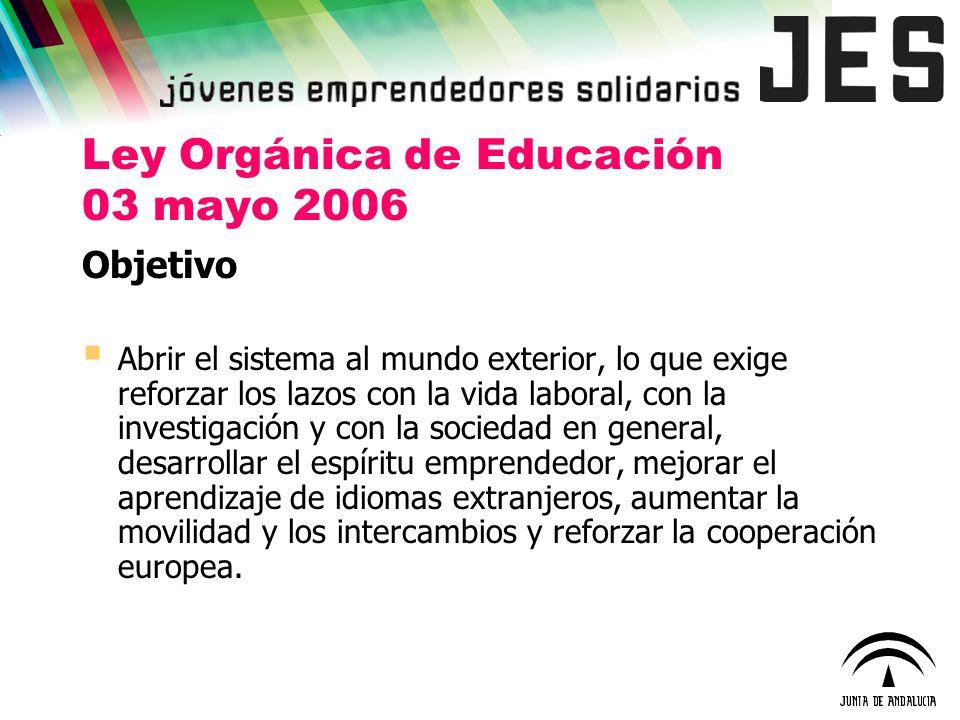 Ley Orgánica de Educación 03 mayo 2006