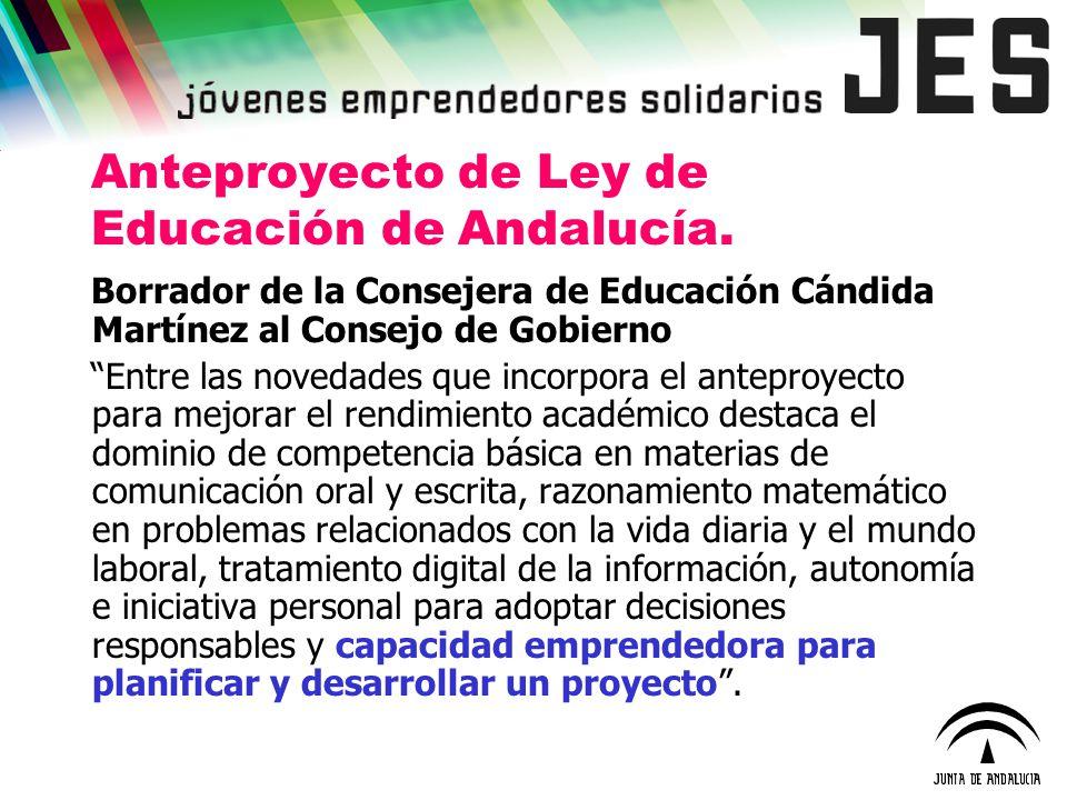 Anteproyecto de Ley de Educación de Andalucía.